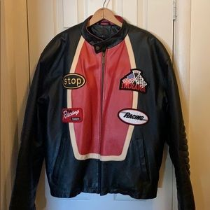 Leather motorcycle jacket MUST SELL!!